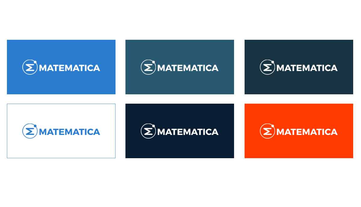 matematica logo color options