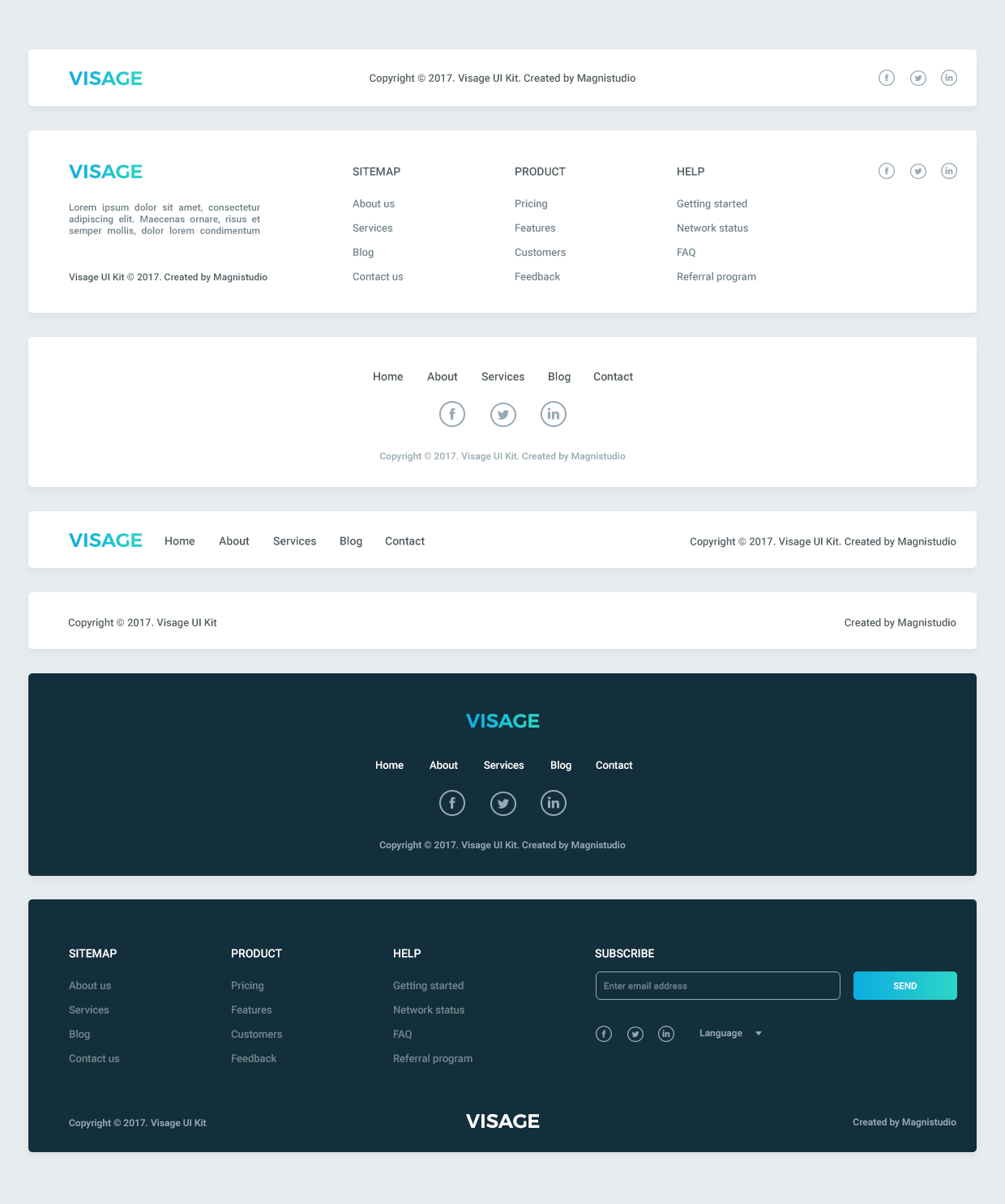 footer elements